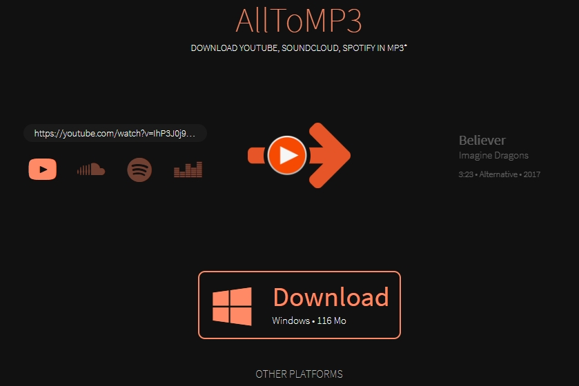 convert spotify to mp3 with alltomp3
