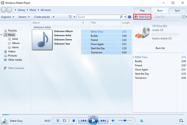 burn spotify music to cd with windows media player