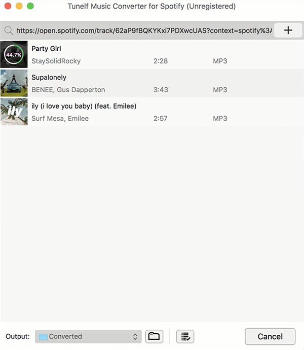 Tunelf Spotify Music Converter for Mac full screenshot