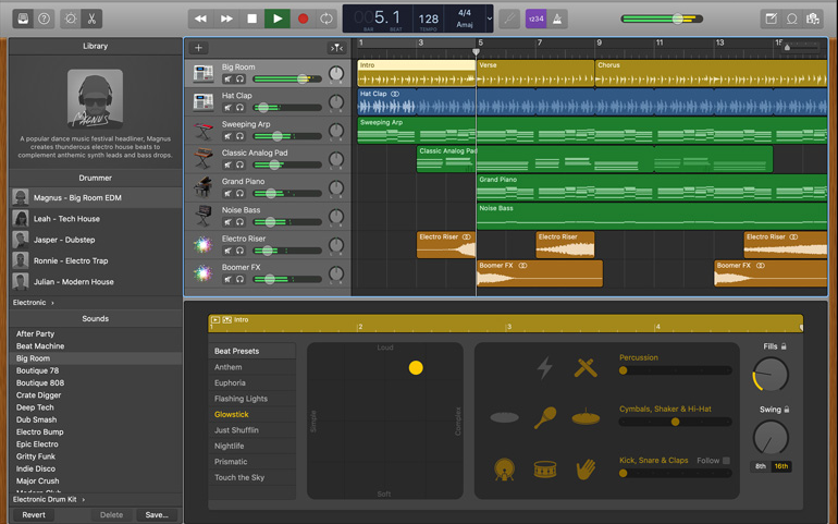 add music to garageband on mac