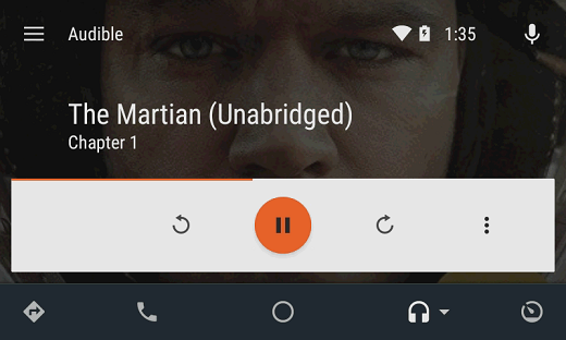 play audible in the car with android auto
