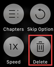 delete audiobooks on apple watch