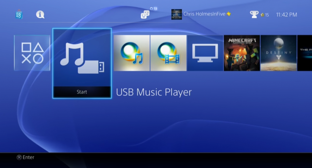 play spotify on ps4 with usb