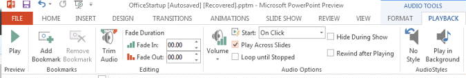 play spotify music on powerpoint