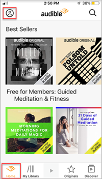 refresh audible library