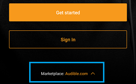 sign in audible