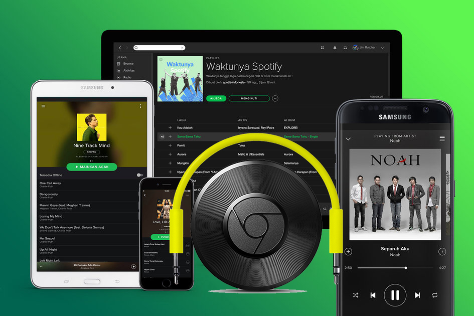 spotify music to chromecast