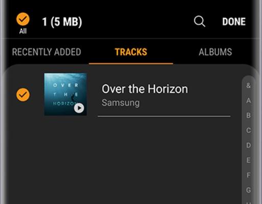 add music to galaxy watch