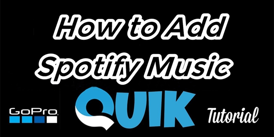 add spotify music to quik