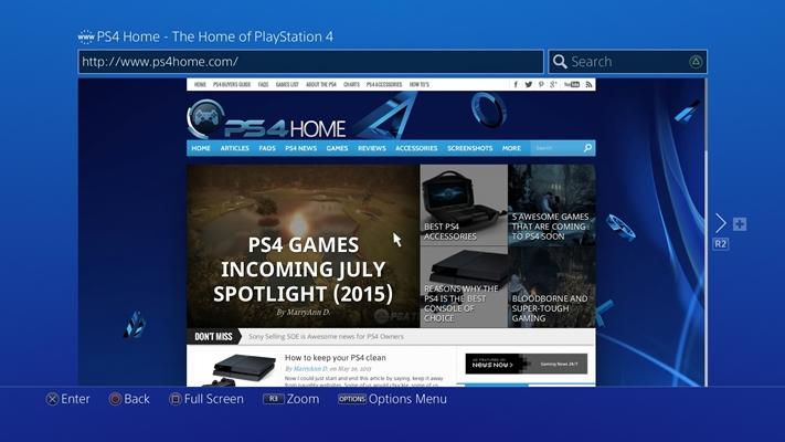 play audible on ps4 via web player