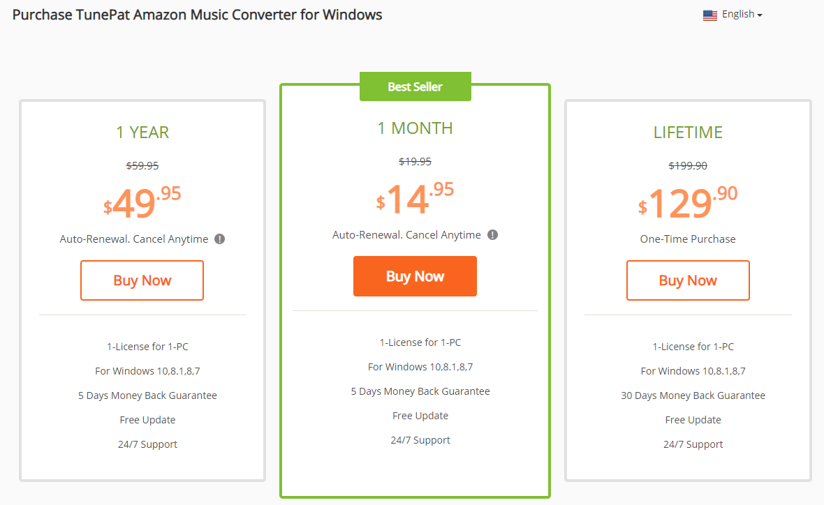 price of tunepat amazon music converter