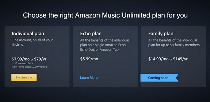 music unlimited price