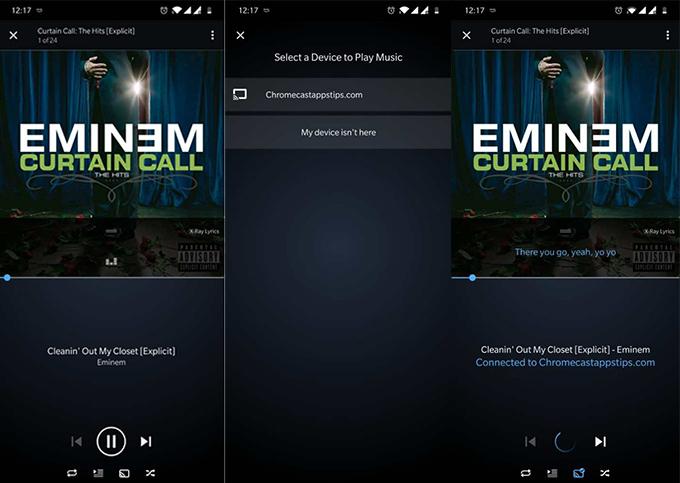 amazon music on chromecast