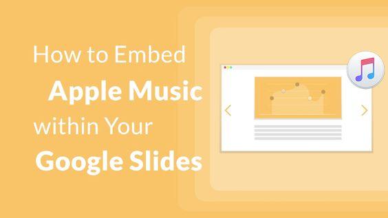 apple music to google slides