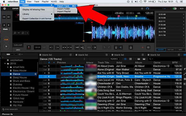 import music to rekordbox