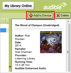 transfer audible to mp3 player